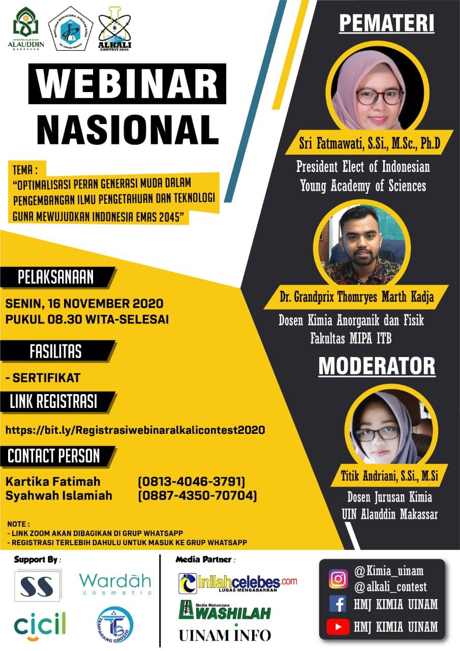 HMJ Kimia: Alkali Contest 2020 Dirangkaian Webinar (16 November 2020)